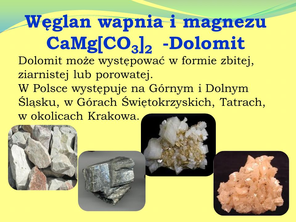 Węglan wapnia i magnezu CaMg[CO3]2 -Dolomit